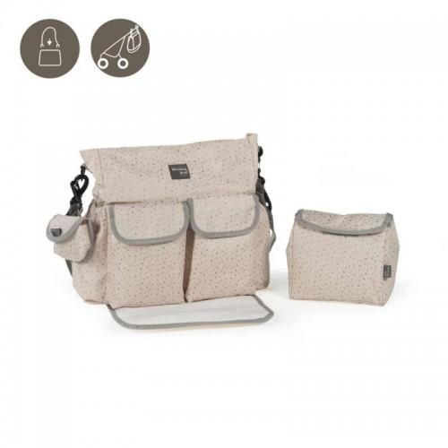 Bolso silla con cambiador Nordic Baby beige de Walking Mum