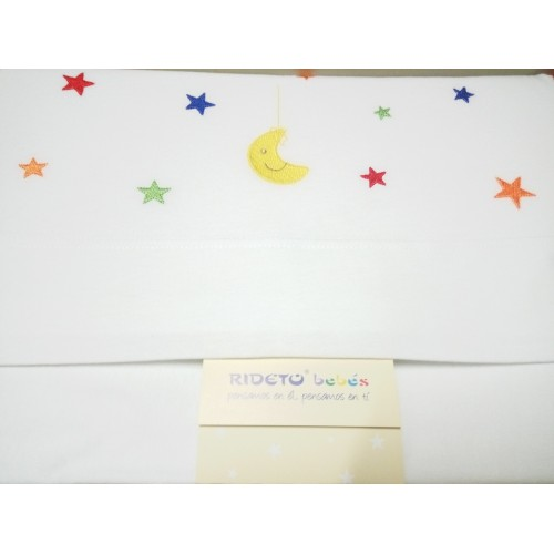 Tríptico sábanas de cuna Luna y estrellas - Rideto