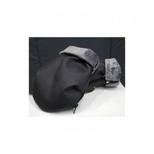 Guantes / manoplas silla de paseo polipiel negro