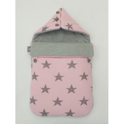 Saco universal capazo Cottonmoose Pink Star