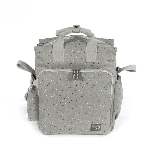 Bolso mochila de maternidad gris Tic Tic de Walking Mum